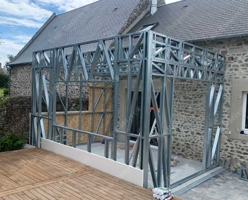 Steel extension for house