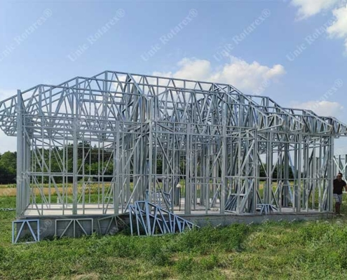 Steel structure for family house