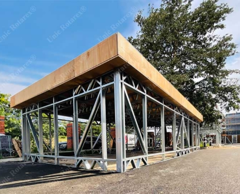 Structure for bike shed in London